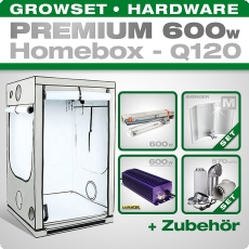 HOMEbox Q120 Profi Silent Growbox Set, 600W, 120x120x200cm