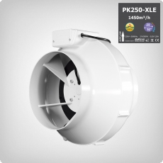 PK Rohrventilator 250-XLE 1-Speed, 1450m³/h