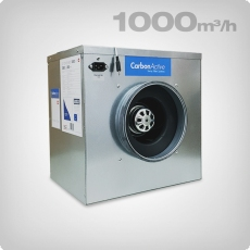 CarbonActive EC Silent Box, 1000 m3/h, ø 200mm
