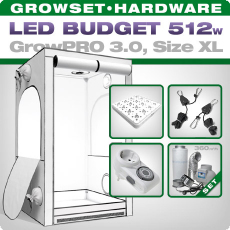 Growbox GrowPRO XL, Grow Set, LED 512W
