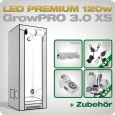 Growbox Komplettset LED GrowPRO XS + 1x Q3W, 120W