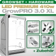 Growbox Komplettset LED GrowPRO XL + 2x Q5W, 410W