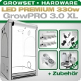 Growbox Komplettset LED GrowPRO XL + 2x Q4WL, 330W