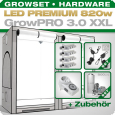 Growbox Komplettset LED GrowPRO XXL + 4x Q5W, 820W