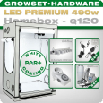 LED Grow Set Homebox Ambient Q120 + 2x Q6W, 490W