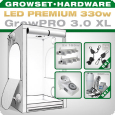 Growbox Komplettset LED XL + 2x Q4WL, 330W