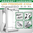 Growbox Komplettset LED XL + 2x Q5W, 410W