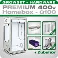 HOMEbox Q100 Profi Silent Growbox Set, 400W, 100x100x200cm