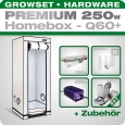 HOMEbox Q60 Profi Silent Growbox Set, 250W, 60x60x160cm