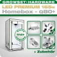 LED Grow Set Homebox Ambient Q80 + 1x Q4W, 165W