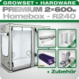 HOMEbox R240 Profi Silent Growbox Set, 2x 600W, 240x120x200cm