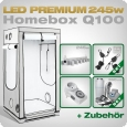 LED Grow Set Homebox Ambient Q100 + 1x Q6W, 245W