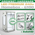LED Grow Set Homebox Ambient Q100 + 2x Q3WL, 240W