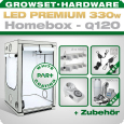 LED Grow Set Homebox Ambient Q120 + 2x Q4WL, 330W