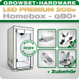 LED Grow Set Homebox Ambient Q80 + 1x Q5W, 205W
