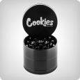 Cookies 4-Piece Grinder by Santa Cruz Shredder, medium, gloss black