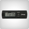 Digital Hygro-Thermometer schwarz, 3,2x10 cm
