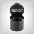 4-Piece Grinder by Santa Cruz Shredder, medium, matte black